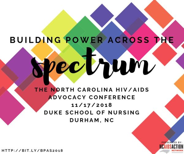 Building Power Across the Spectrum NC Advocacy Conference Nov 2018