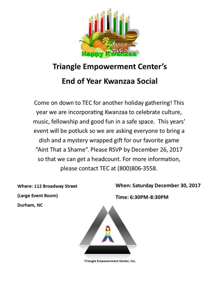 End of 2017 Kwanzaa Social