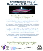 Transgender Day of Resilience & Resistance 2015