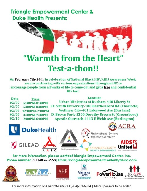 Warmth from the Heart Test-a-thon